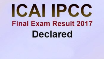 ICAI IPCC Exam Result 2017 announced at icaiexam.icai.org: Check now
