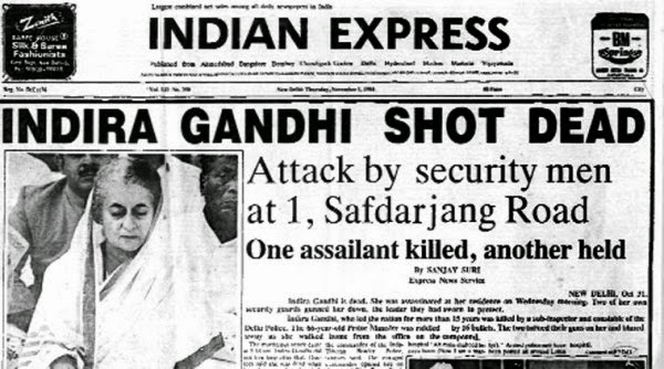 Indira Gandhi's assassination (1984)