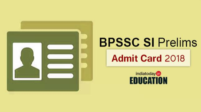 BPSSC SI Prelims Admit Card 2018 out at bpssc.bih.nic.in: 5 straightforward strides to download
