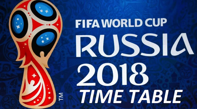 FIFA World Cup 2018 Schedule, Fixtures, Time Table