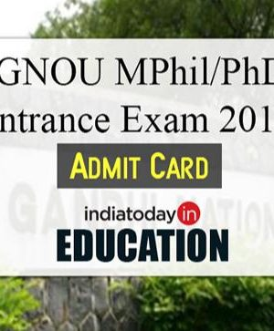 IGNOU MPhil/PhD Entrance Exam 2018 concede card discharged at ignou.ac.in: How to apply