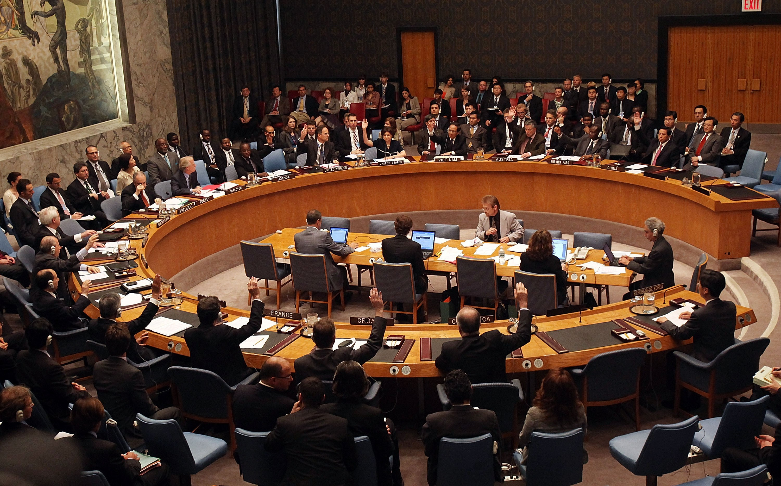UN Security Council consistently votes determination requesting truce in Syria