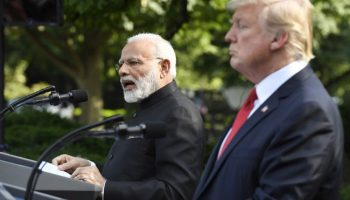 "In Dig On India Harley Tax, Trump Refers To PM Modi As ""Lovely Man""."