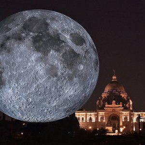 Monster Replica Of Moon Unveiled At Kolkata's Victoria Memorial