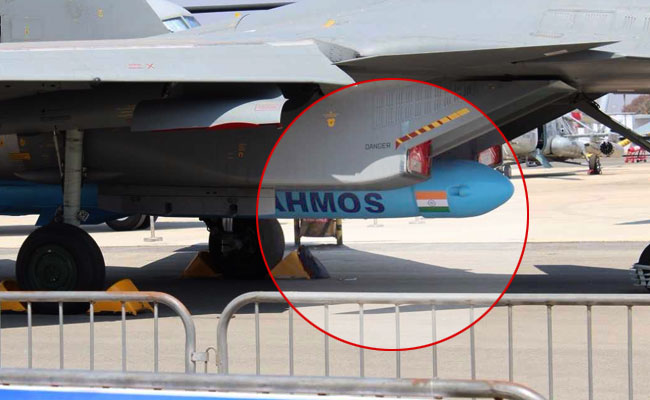 The Brahmos missile travels at 2.8 times the speed of sound