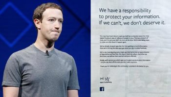Facebook CEO Mark Zuckerberg apologizes to clients with full-page advertisement
