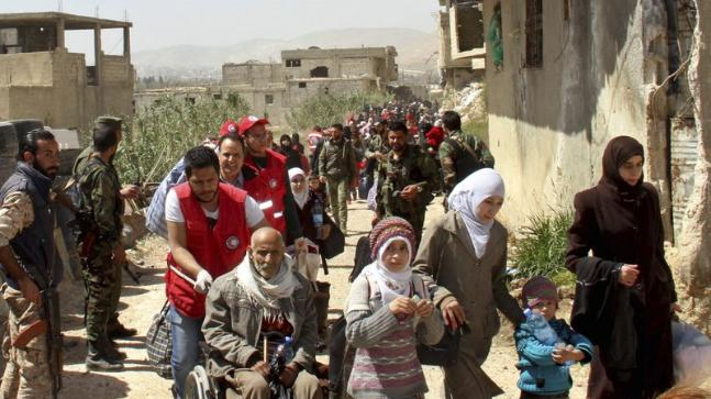 Mass migration of Syrian renegades and regular folks proceed in eastern Ghouta, reports Syrian media