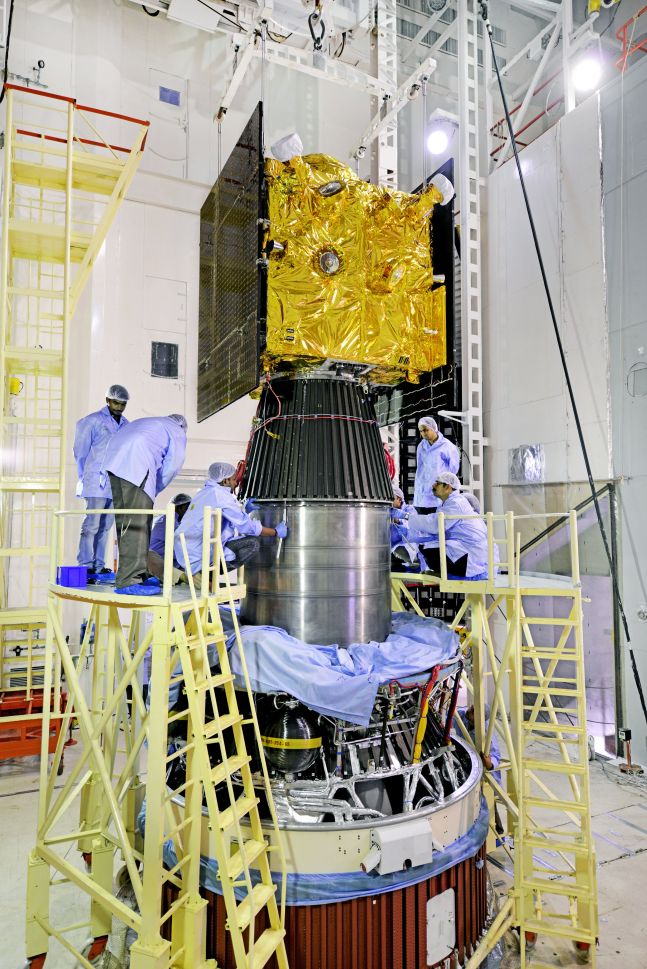 IRNSS-1I spacecraft is being Integrated with PSLV-C41.