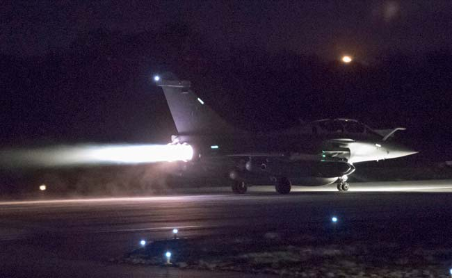 Syria air strikes: French Rafale fighter jets take off from an airbase to carry out strikes in Syria