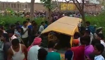 12 kids dead in UP's Kushinagar after transport slams into prepare at unmanned intersection