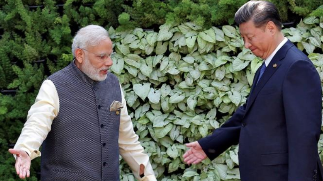 China daily paper front pages hail 'noteworthy' Modi-Xi summit