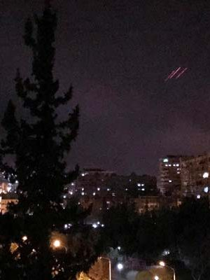 Missiles launched by the US and other nations fly over Syrian capital Damascus