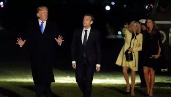 "Trump, Emmanuel Macron Call For ""New"" Nuclear Deal With Iran"