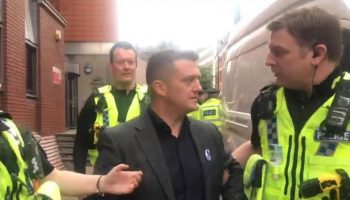 Tommy Robinson was arrested while filming outside court