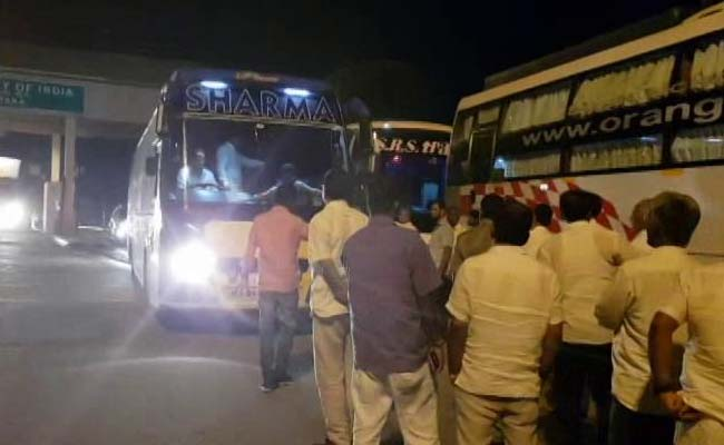 3 Busses On All-Night Journey As Karnataka Lawmakers 'Escape' To Hyderabad