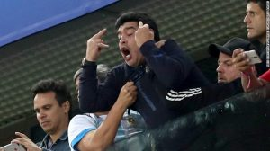 Diego Maradona 'fine' after being treated by the doctor at World Cup