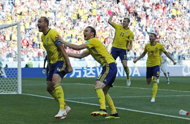 Granqvist's goal was the first penalty scored by Sweden at the World Cup since 2002