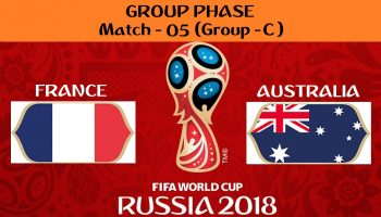 FIFA WORLD CUP 2018 MATCH - 5 - FRANCE vs AUSTRALIA