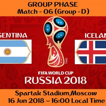 FIFA WORLD CUP 2018 MATCH - 6 - ARGENTINA vs ICELAND