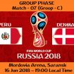 FIFA WORLD CUP 2018 MATCH - 7 - PERU vs DENMARK