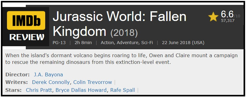 Jurassic World: Fallen Kingdom - There's always a bigger dinosaur
