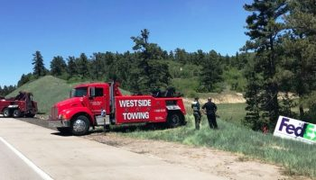 FEDEX TRUCK STOLEN - Delivery Vehicle Crashed in Castle Pines