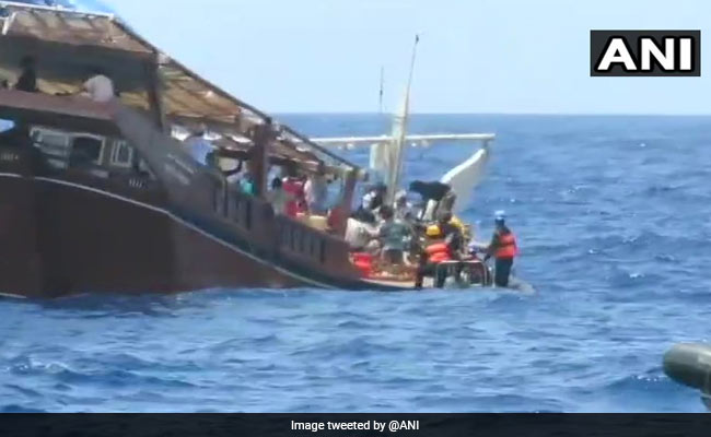Naval force Evacuates 38 Stranded Indians From Cyclone-Hit Island In Yemen
