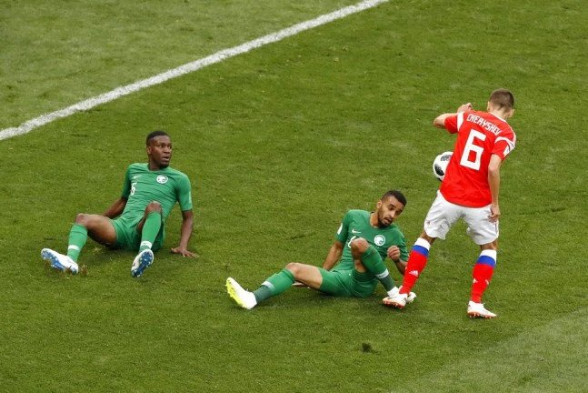 Russia's 5-0 win against Saudi Arabia was the biggest win for a host nation in a World Cup opener since 1934.