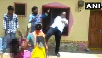 Telangana Local Body Chief Kicks Woman In The Chest Over Land Dispute