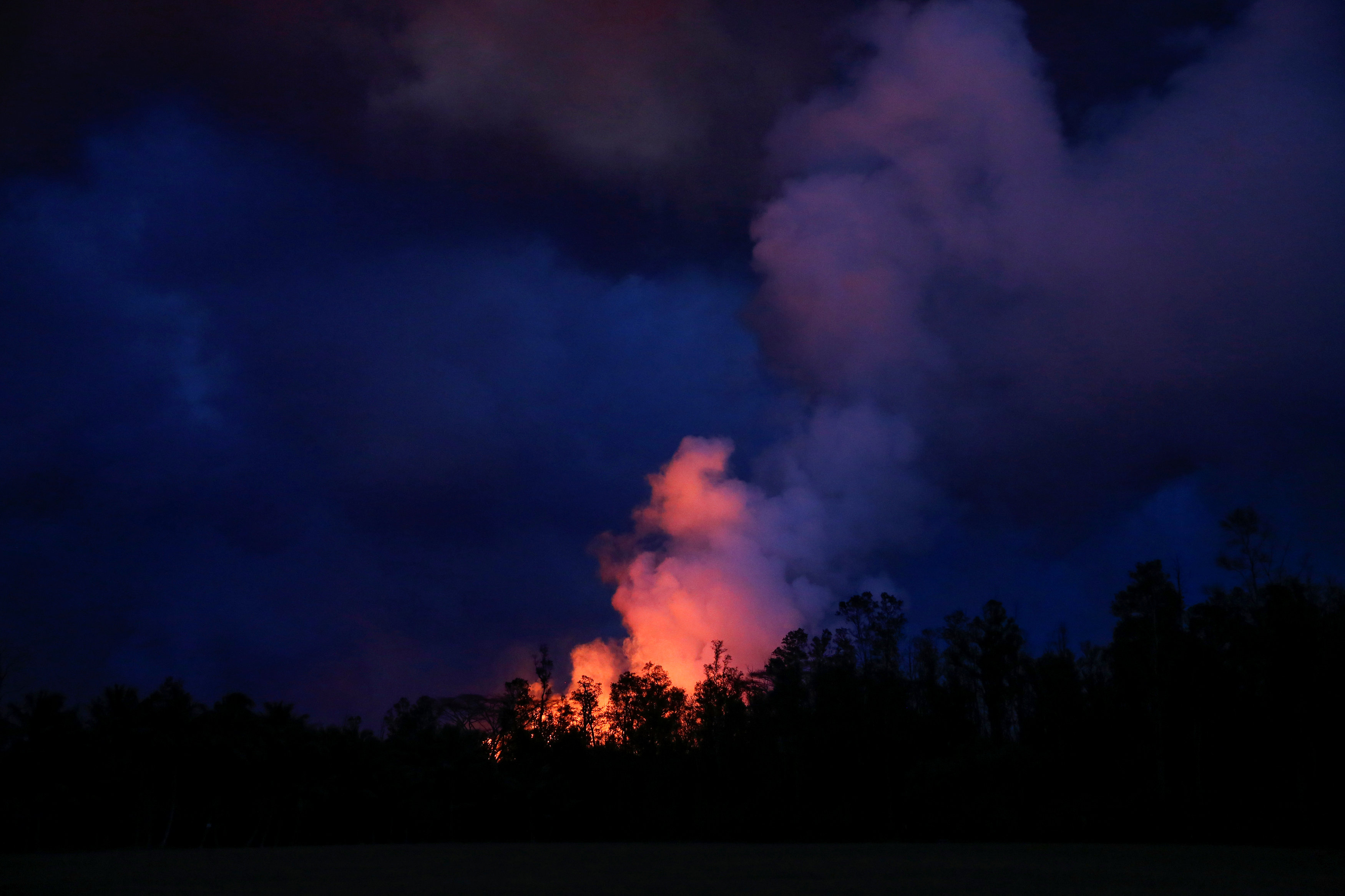 Lava erupts in Leilani Estates during ongoing eruptions of the Kilauea Volcano in Hawaii, US.