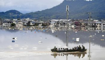 15 dead, 50 detailed absent as substantial surges hit Japan