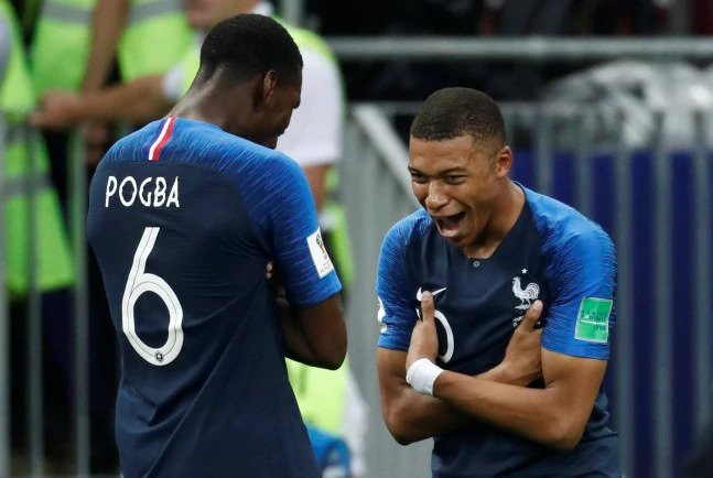 Kylian Mbappe and Paul Pogba scored the fourth and third goal respectively for France