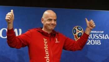 FIFA president Gianni Infantino proclaims Russia World Cup as the best ever