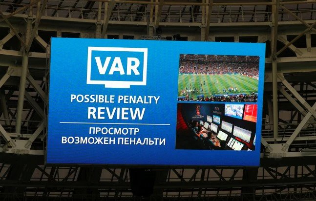 VAR has been used in a World Cup final for the first time