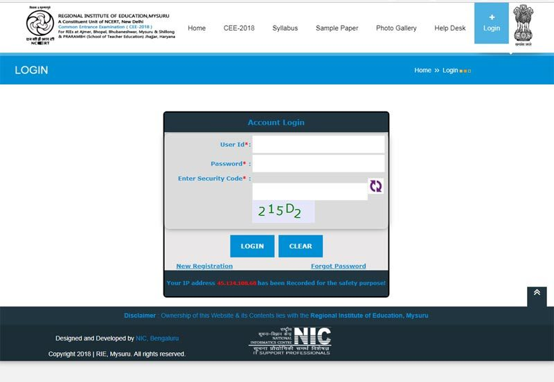 Proclaimed! RIE CEE Results 2018 at ncert-cee.kar.nic.in, check now
