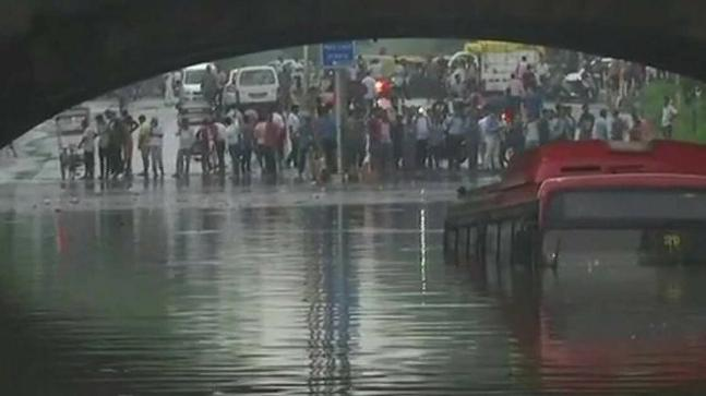 Close shave for travelers as DTC transport submerges under Minto Road Bridge