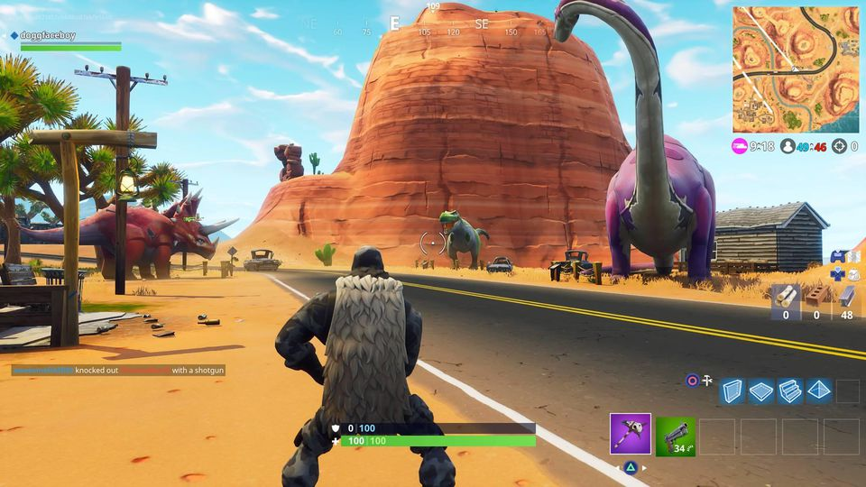 Fortnite: Battle Royale - Search Between Oasis, Rock Archway And Dinosaurs