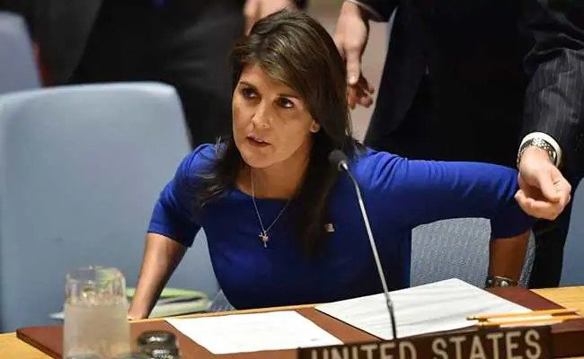 "US Won't Allow Human Rights To Be ""Ruined"" By UN Body: Nikki Haley"
