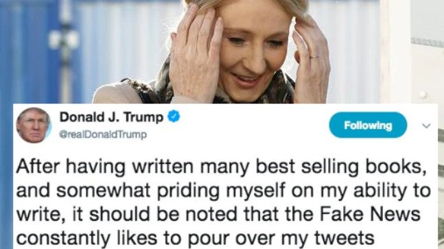 JK Rowling can't quit giggling after Trump's most marvelous spelling botch yet