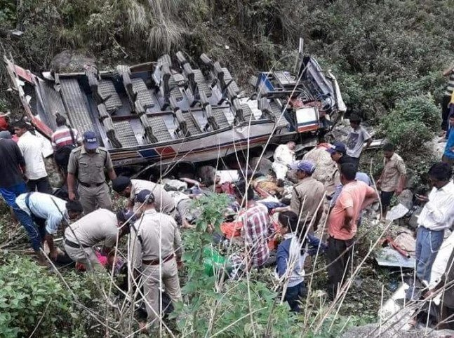 The bus was travelling from Bhaun to Ramnagar.