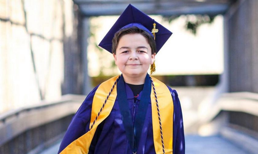 13 years old Jack Rico graduates from Fullerton College