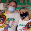 Joey Chestnut and Miki Sudu set new world records in Nathan's Hot Dog Eating Competition