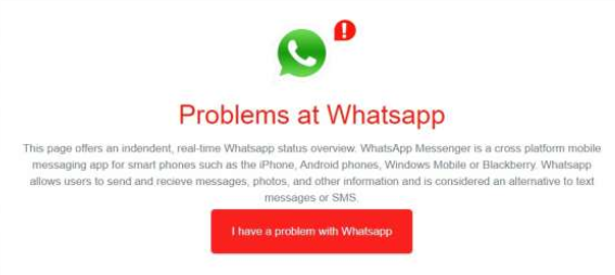 Whatsapp down: the massaging app outage technical glitches