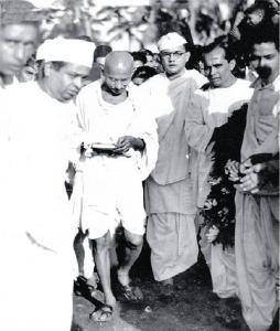 Netaji with Gandhiji