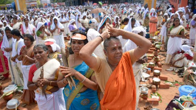 Kerala capital hosts Attukal Pongala, world's largest religious congregation of women