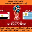 FIFA WORLD CUP 2018 MATCH - 2 - EGYPT vs URUGUAY