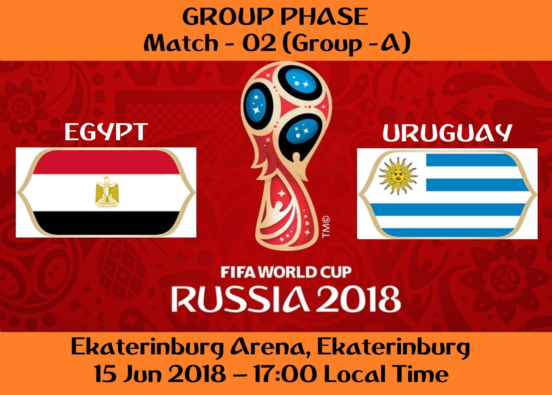FIFA WORLD CUP 2018 MATCH - 2 - EGYPT vs URUGUAY