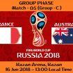 FIFA WORLD CUP 2018 MATCH - 5 - FRANCE vs AUSTRALIA