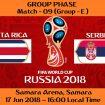 FIFA WORLD CUP 2018 MATCH - 9 - COSTA RICA vs SERBIA