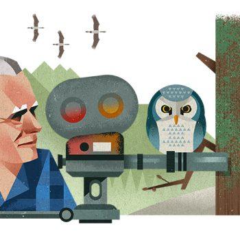 Heinz Sielmann - Mr Woodpecker on Google Doodle
